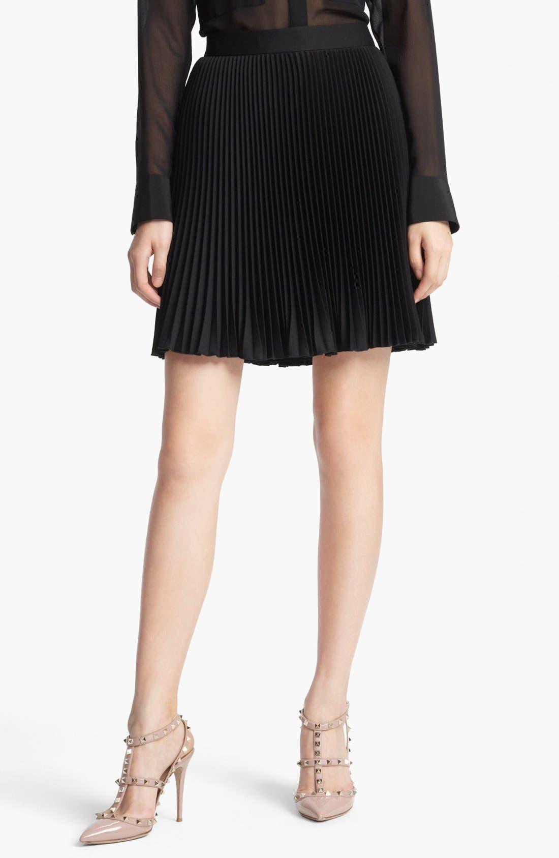 Main Image - Valentino Techno Plissé Skirt
