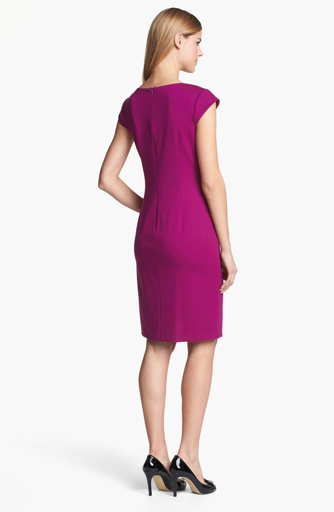 Alternate Image 2  - Adrianna Papell Cap Sleeve Sheath Dress (Online Only)