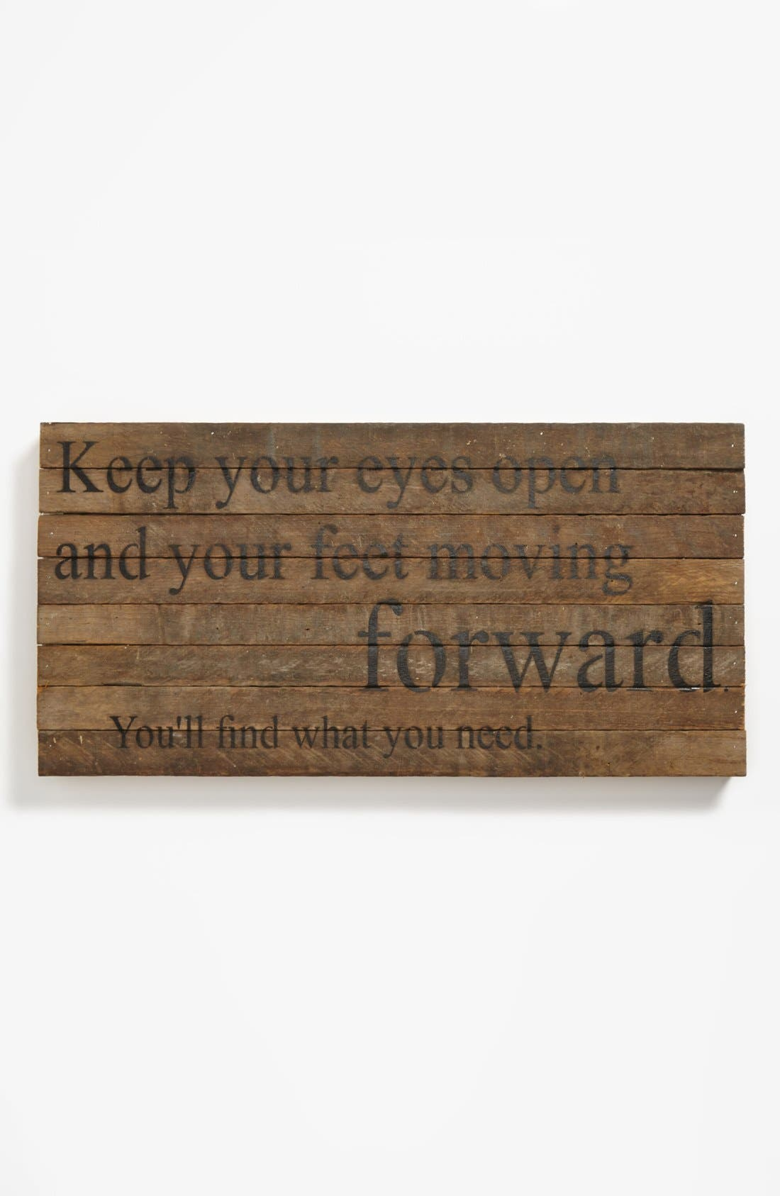 Main Image - Second Nature by Hand 'Keep Your Eyes Open' Repurposed Wood Wall Art