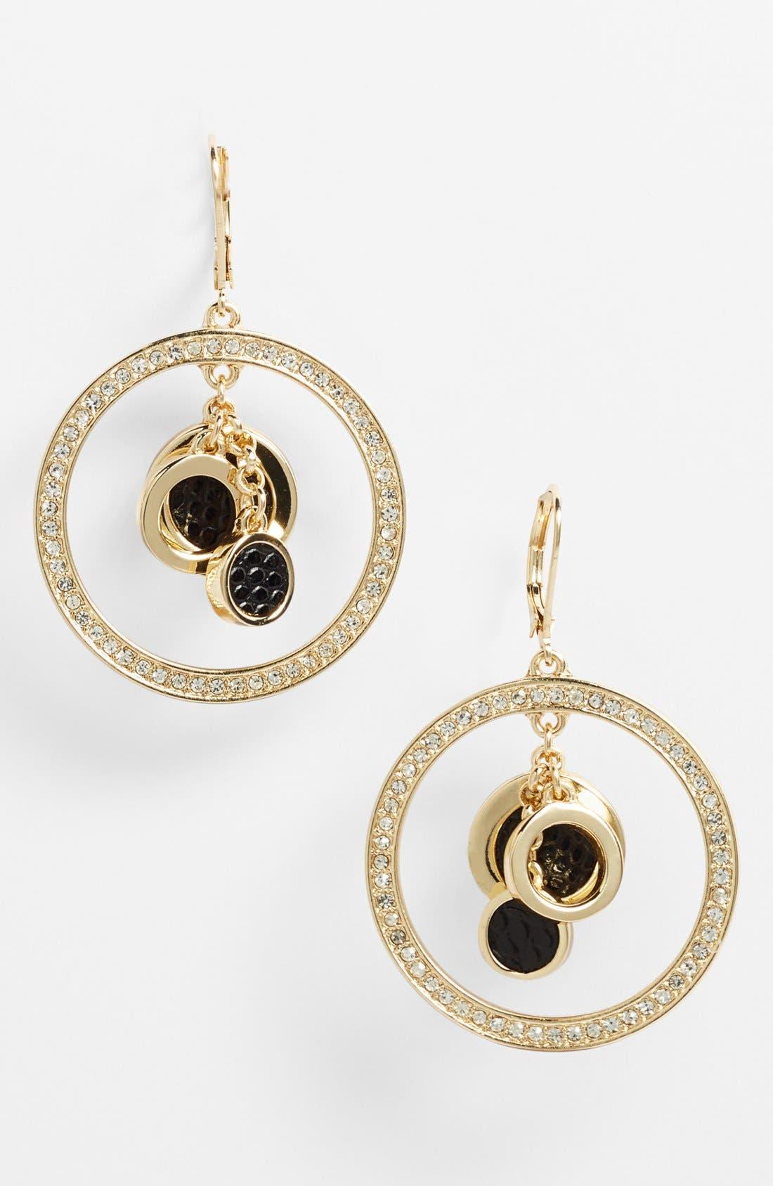 Main Image - Anne Klein Orbiting Drop Earrings