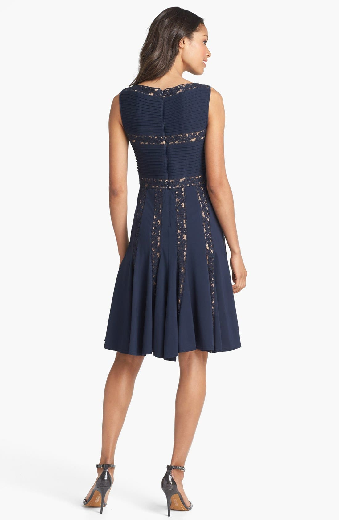 Alternate Image 2  - Tadashi Shoji Lace Inset Jersey Fit & Flare Dress (Regular & Petite)
