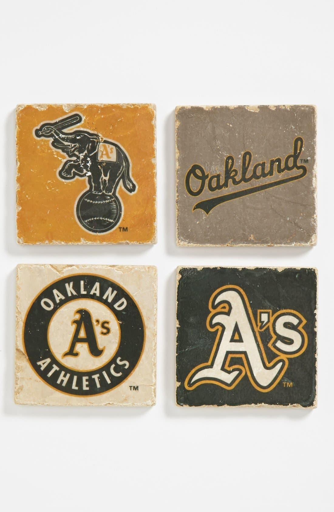 Alternate Image 1 Selected - 'Oakland Athletics' Marble Coasters (Set of 4)