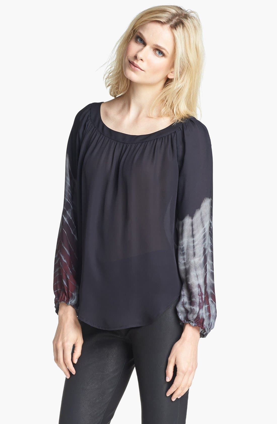 Alternate Image 1 Selected - L'AGENCE Shirred Silk Blouse