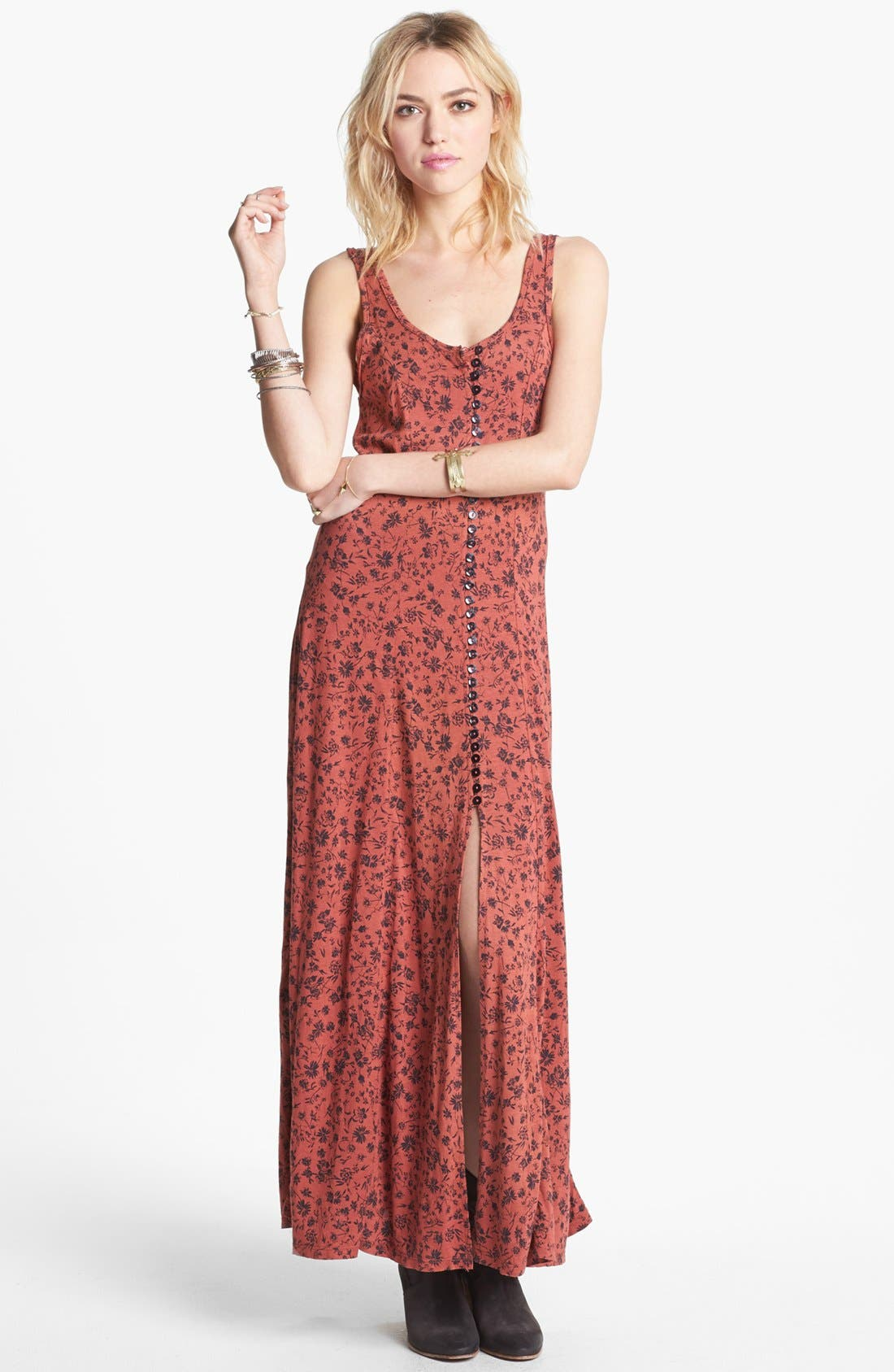 Alternate Image 1 Selected - Free People 'Gold Coast' Floral Maxi Dress