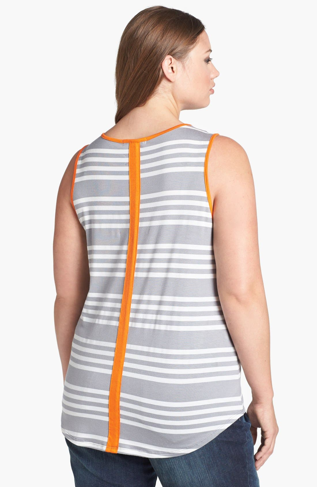 Alternate Image 2  - Olivia Moon Stripe Tank (Plus Size)