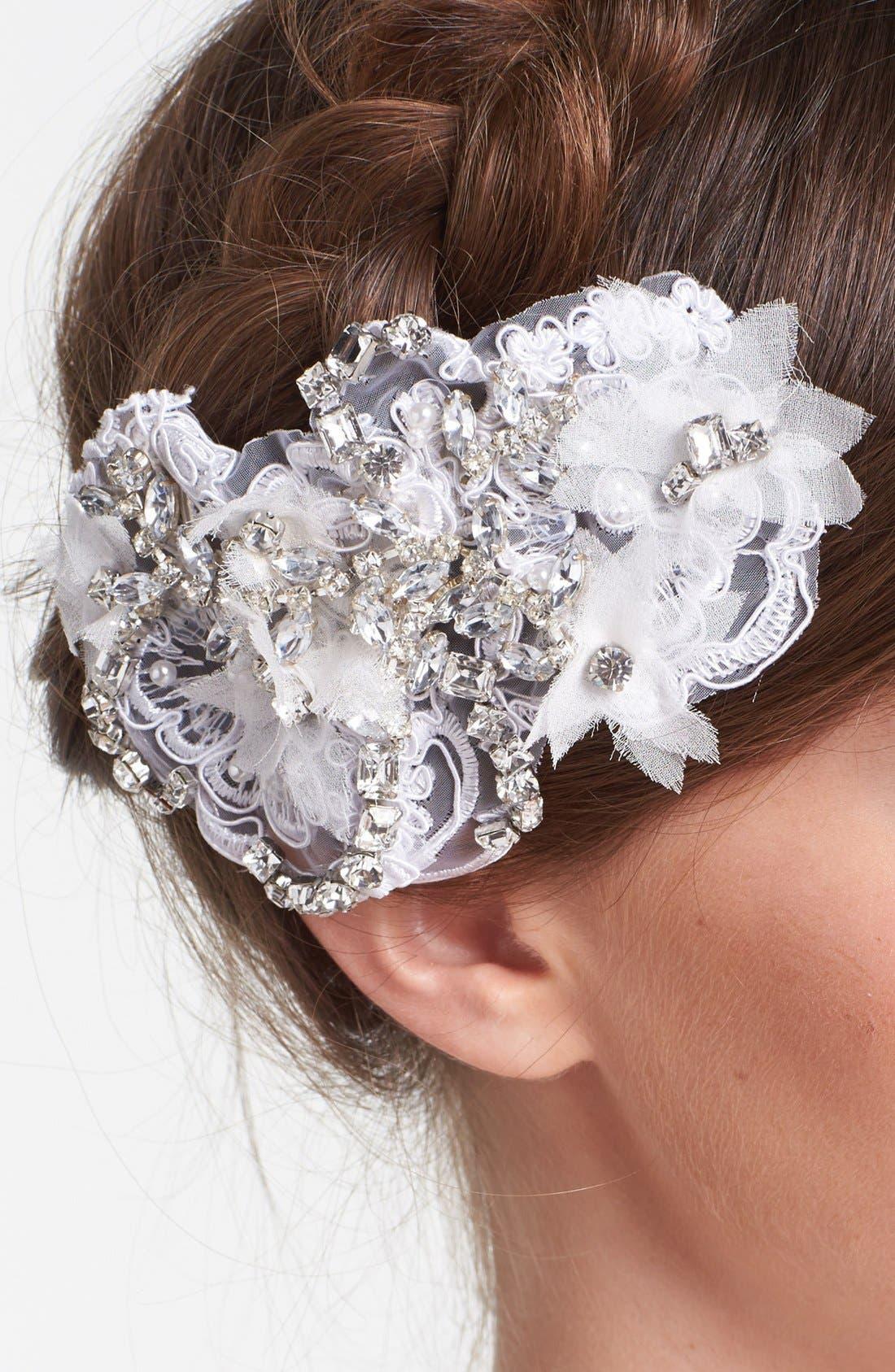 Alternate Image 2  - Serephine 'Eloise' Rhinestone & Lace Bridal Comb