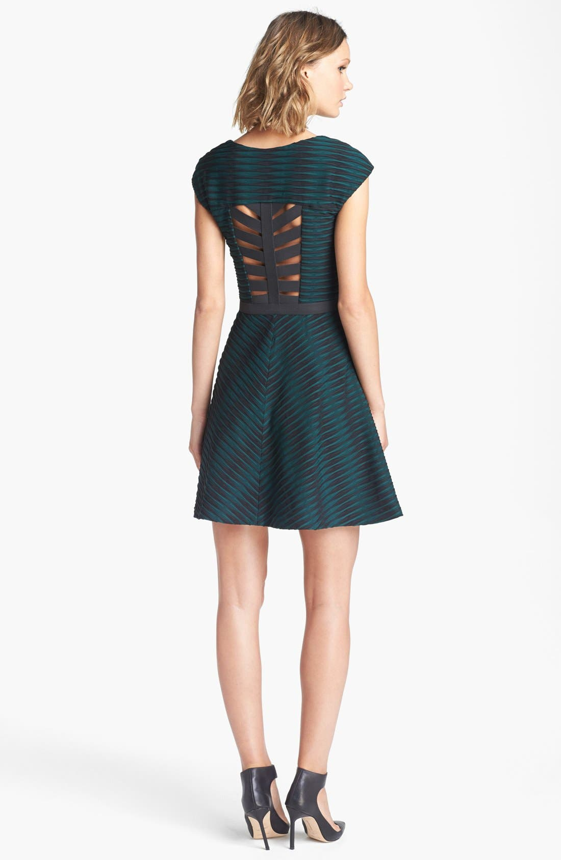 Alternate Image 2  - Betsey Johnson Textured Fit & Flare Dress
