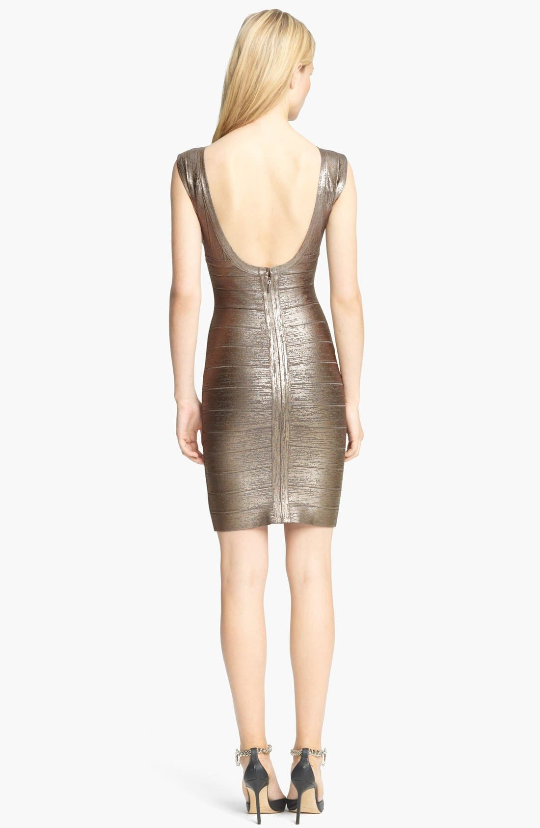Alternate Image 2  - Herve Leger Foiled Bandage Dress