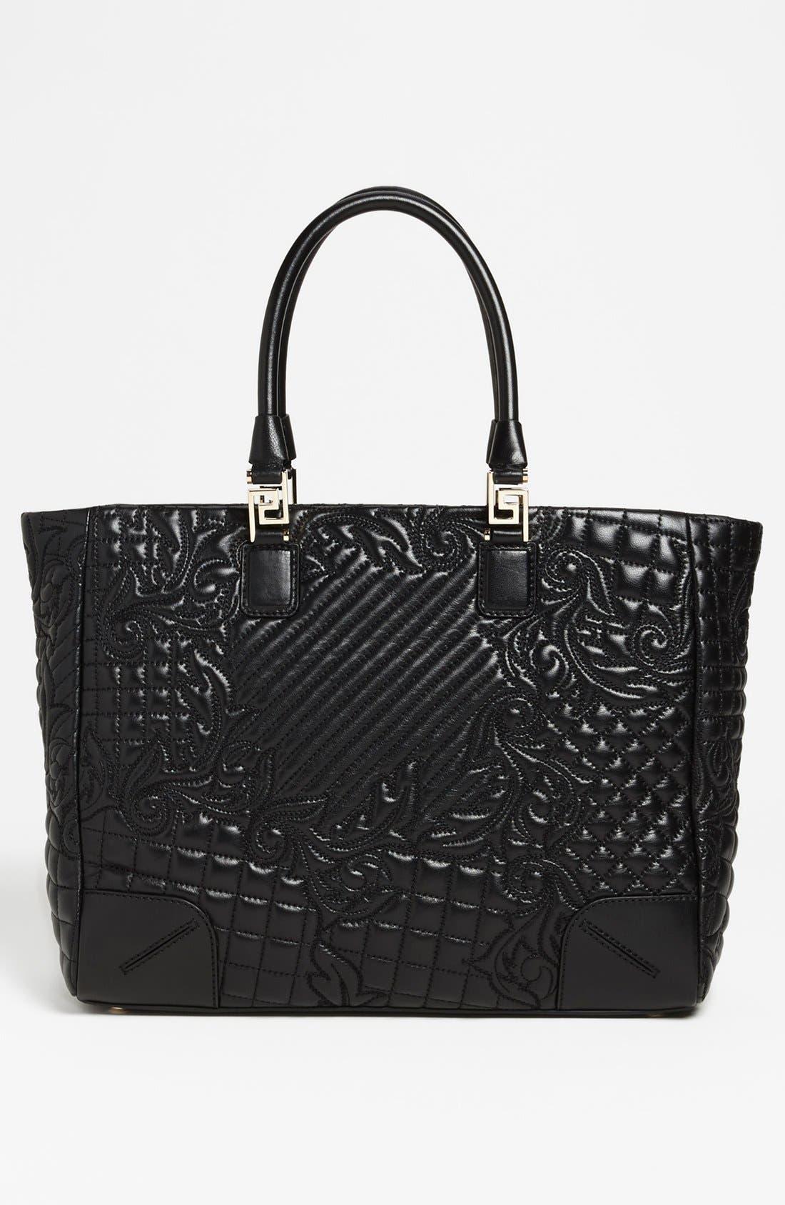 Alternate Image 4  - Versace 'Vanitas' Embroidered Leather Tote