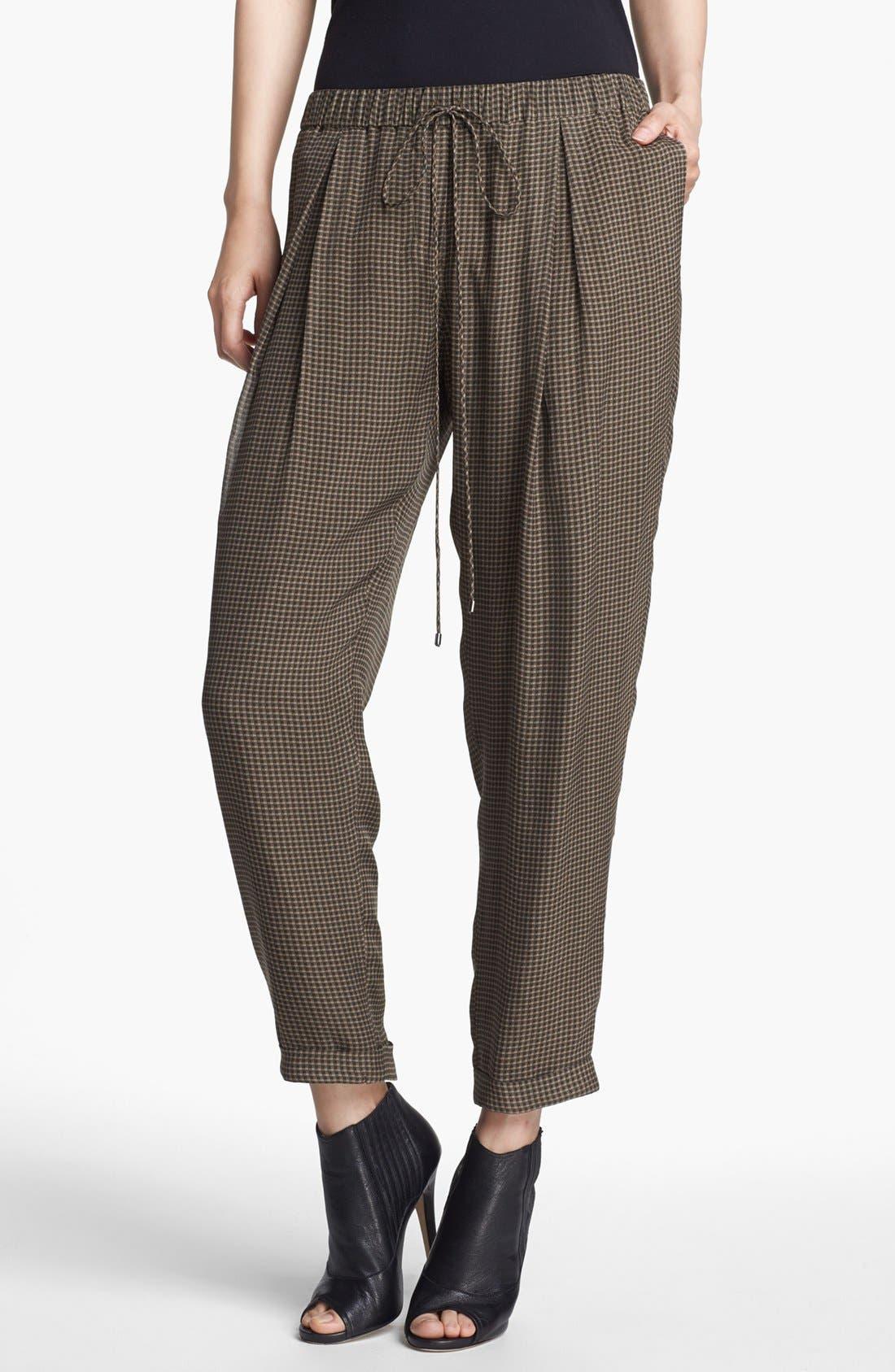Alternate Image 1 Selected - Haute Hippie Narrow Print Drawstring Trousers