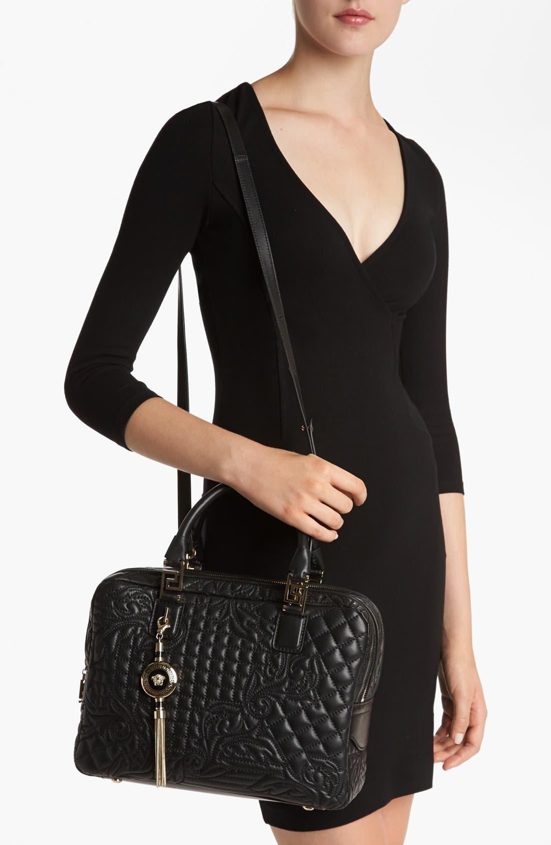 Alternate Image 2  - Versace 'Linea' Embroidered Leather Satchel