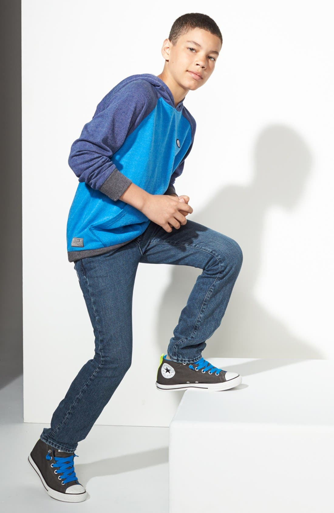 Main Image - Volcom Hoodie & Jeans, Converse Chuck Taylor® Sneaker (Big Boys)
