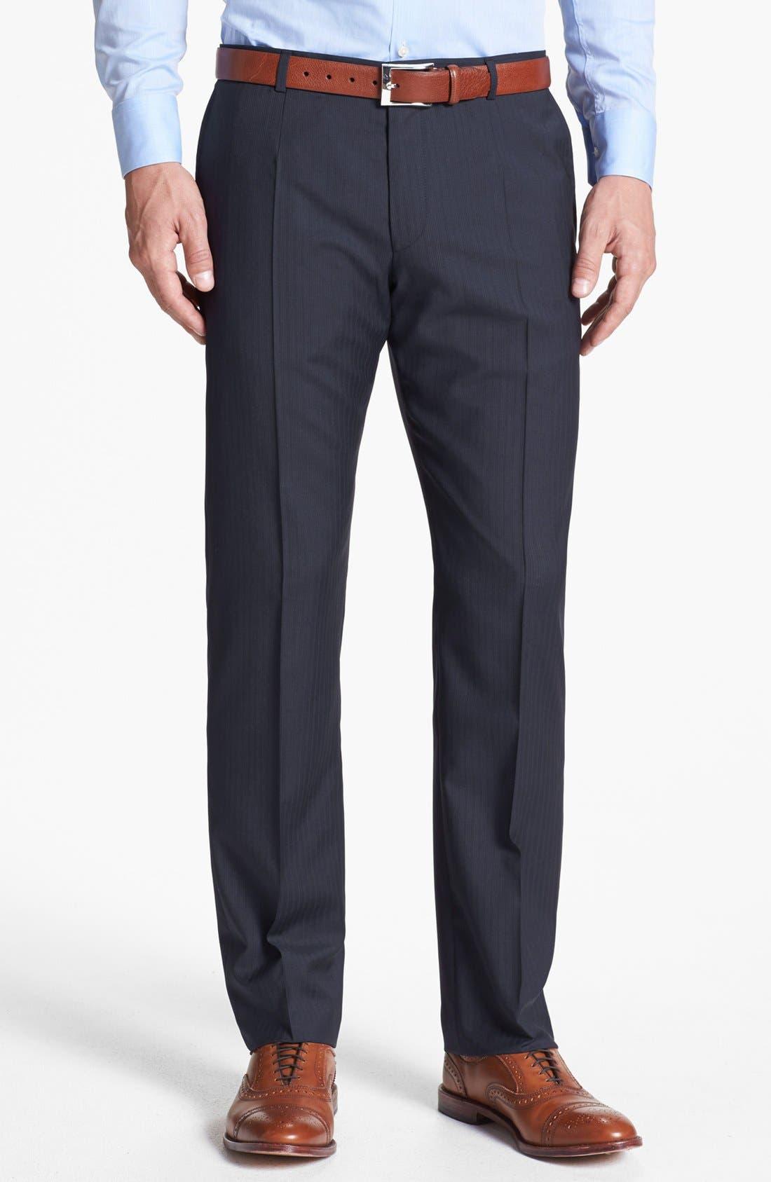 Alternate Image 5  - HUGO 'Amaro/Heise' Trim Fit Stripe Suit