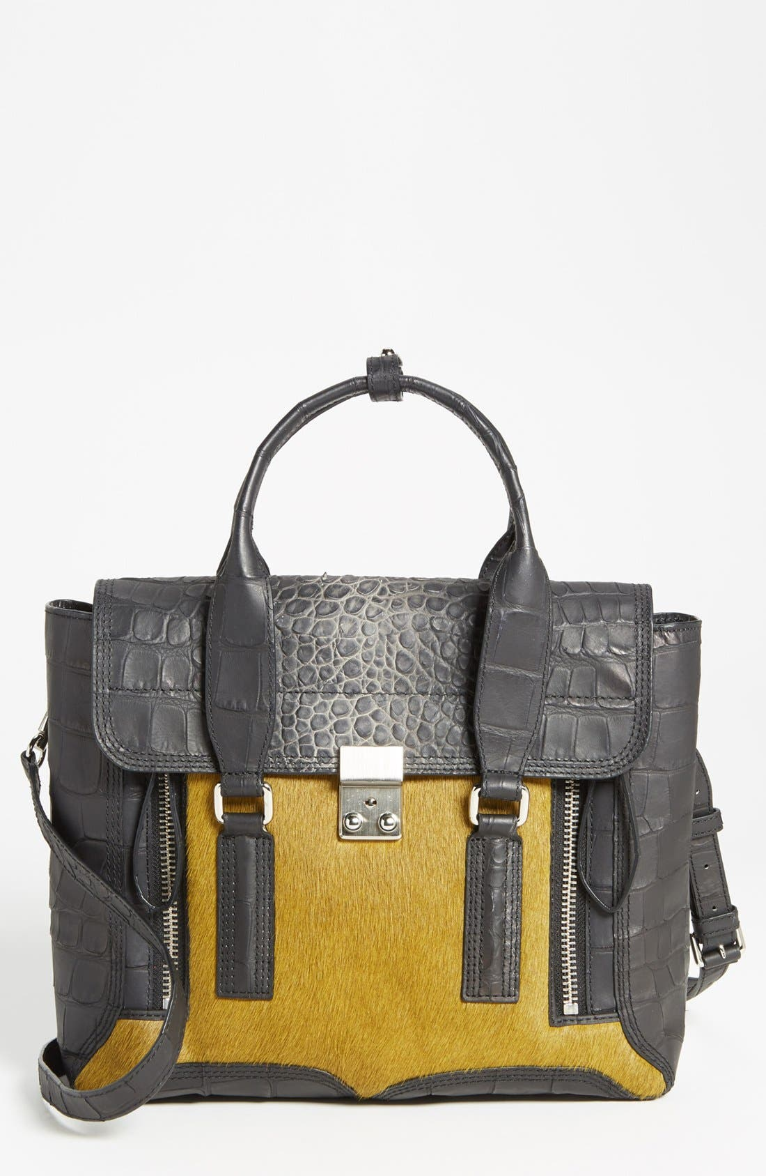 Main Image - 3.1 Phillip Lim 'Pashli - Medium' Calf Hair & Leather Satchel