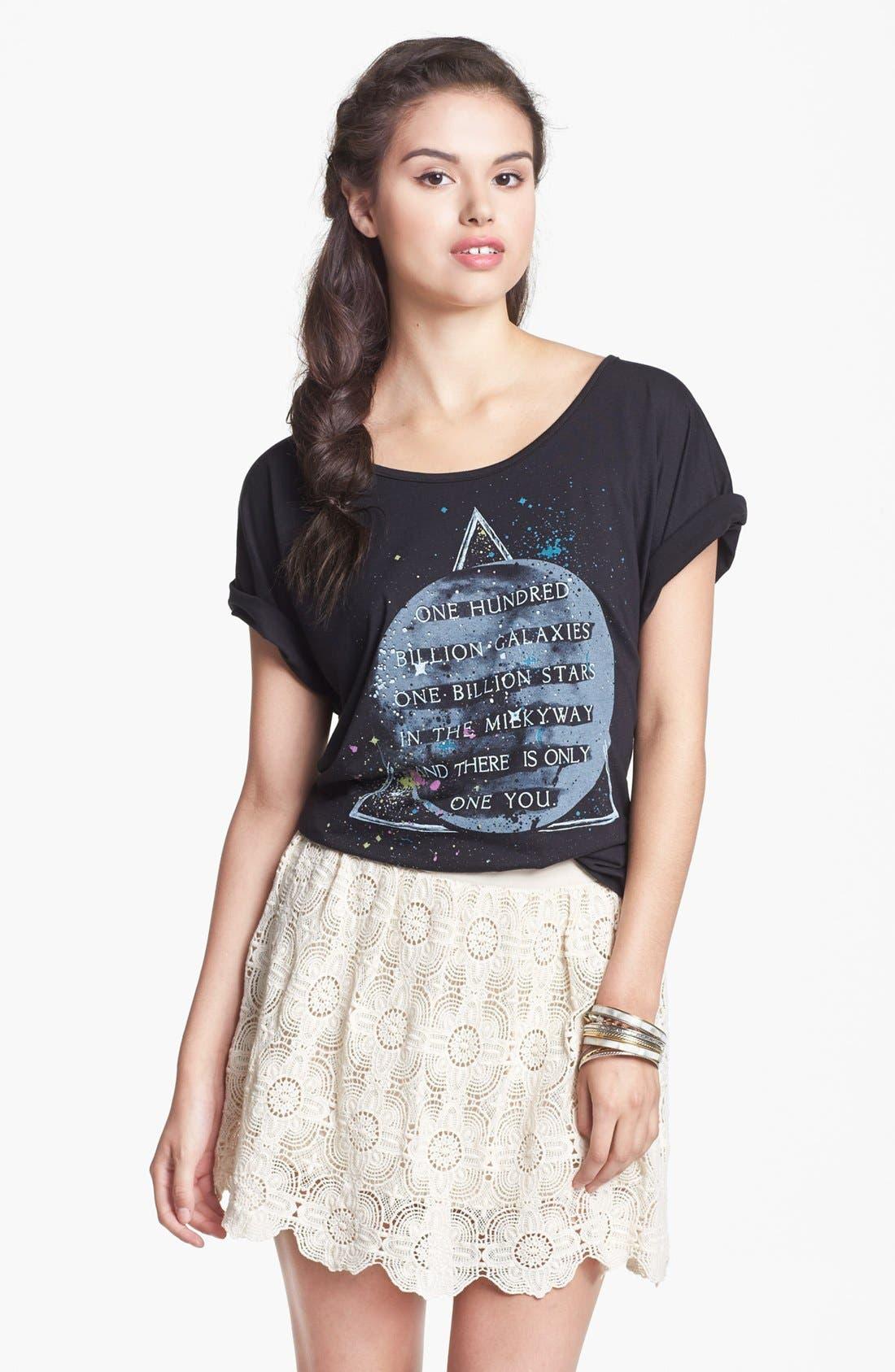 Alternate Image 1 Selected - Blu Pepper Crochet Skirt (Juniors)