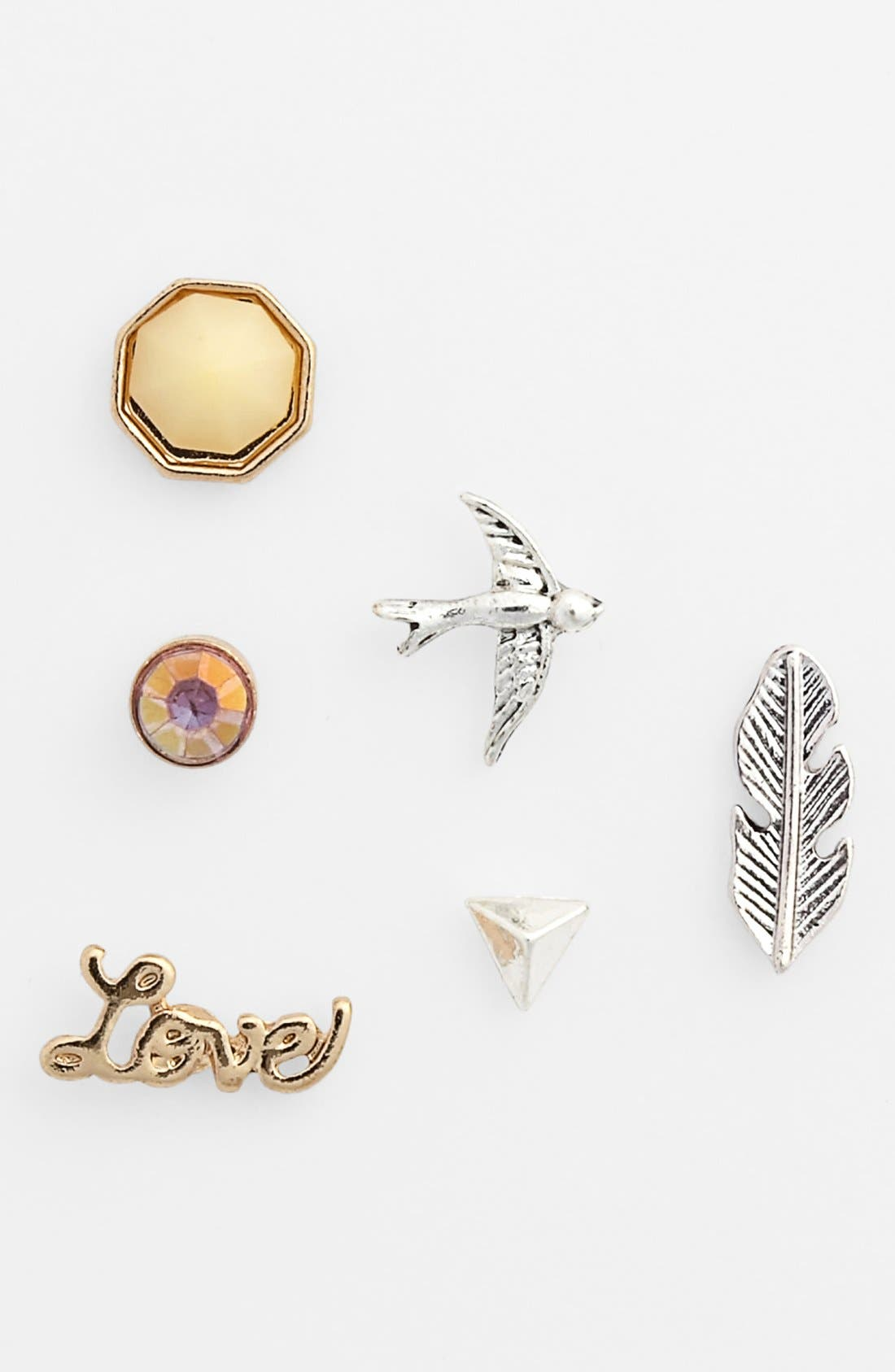 Alternate Image 1 Selected - Statements by DCK 'Mix & Match' Stud Earrings (Set of 6)