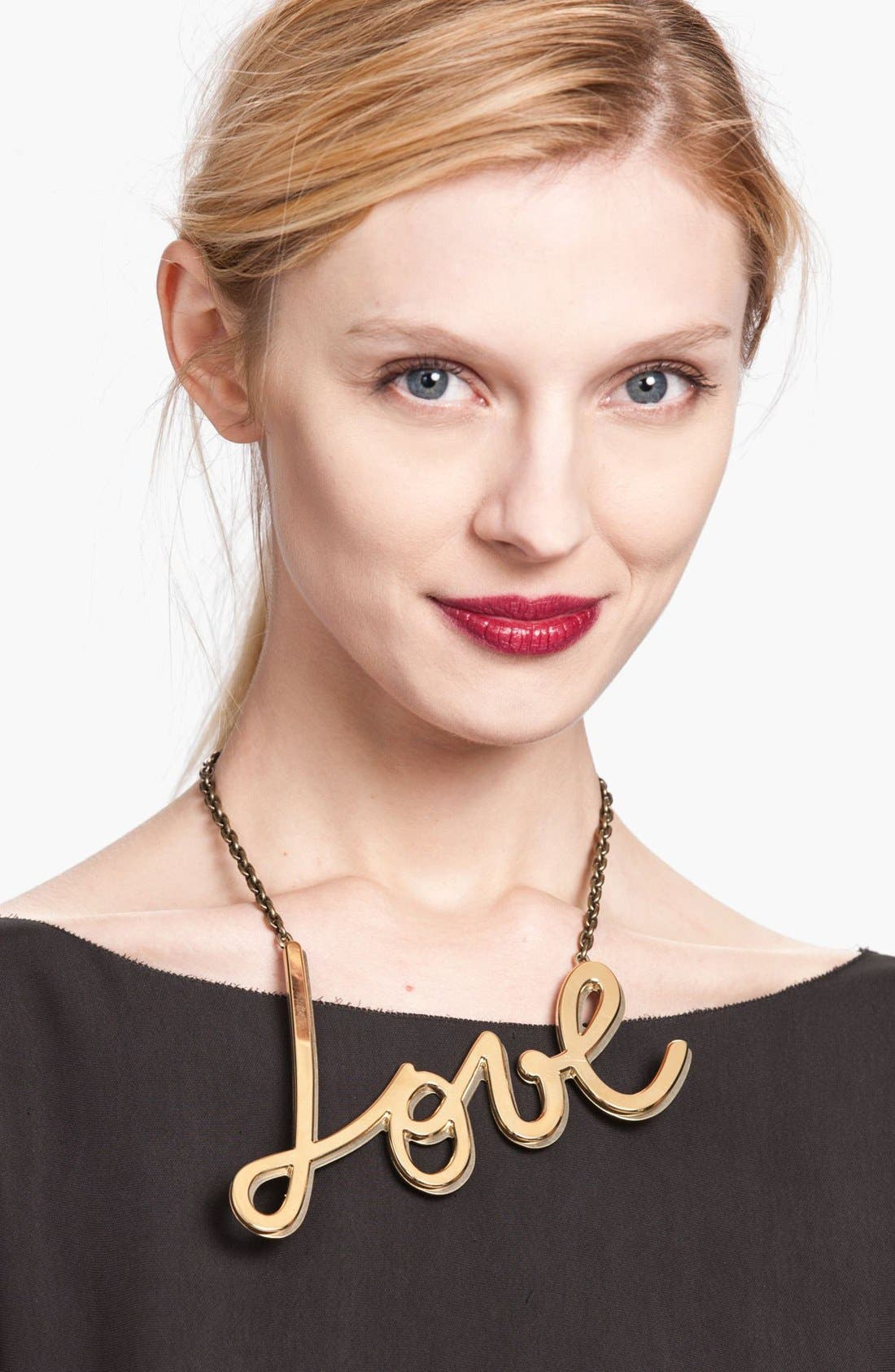 Alternate Image 1 Selected - Lanvin 'Love' Chain Necklace