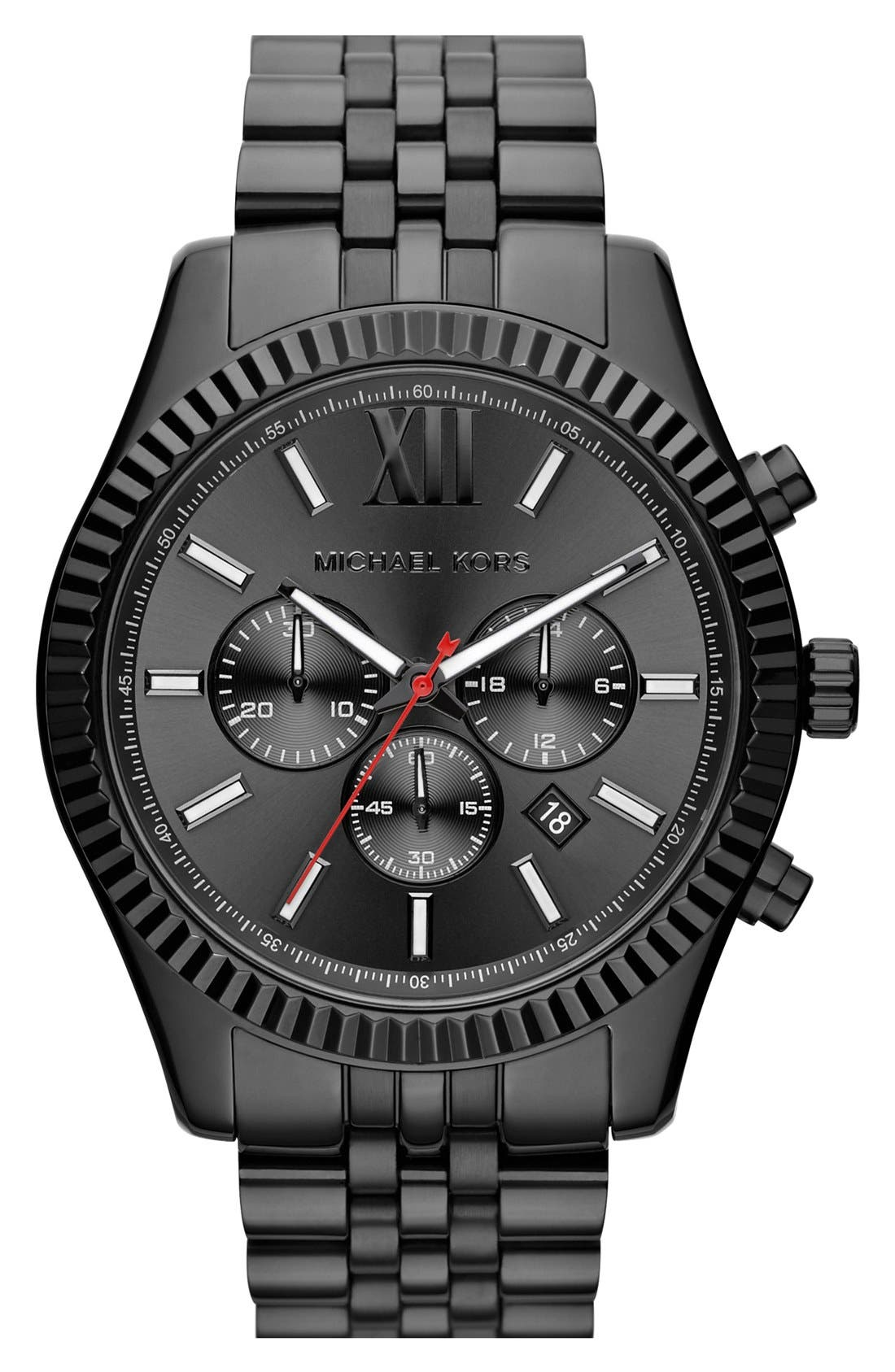 Alternate Image 1 Selected - Michael Kors 'Large Lexington' Chronograph Bracelet Watch, 45mm