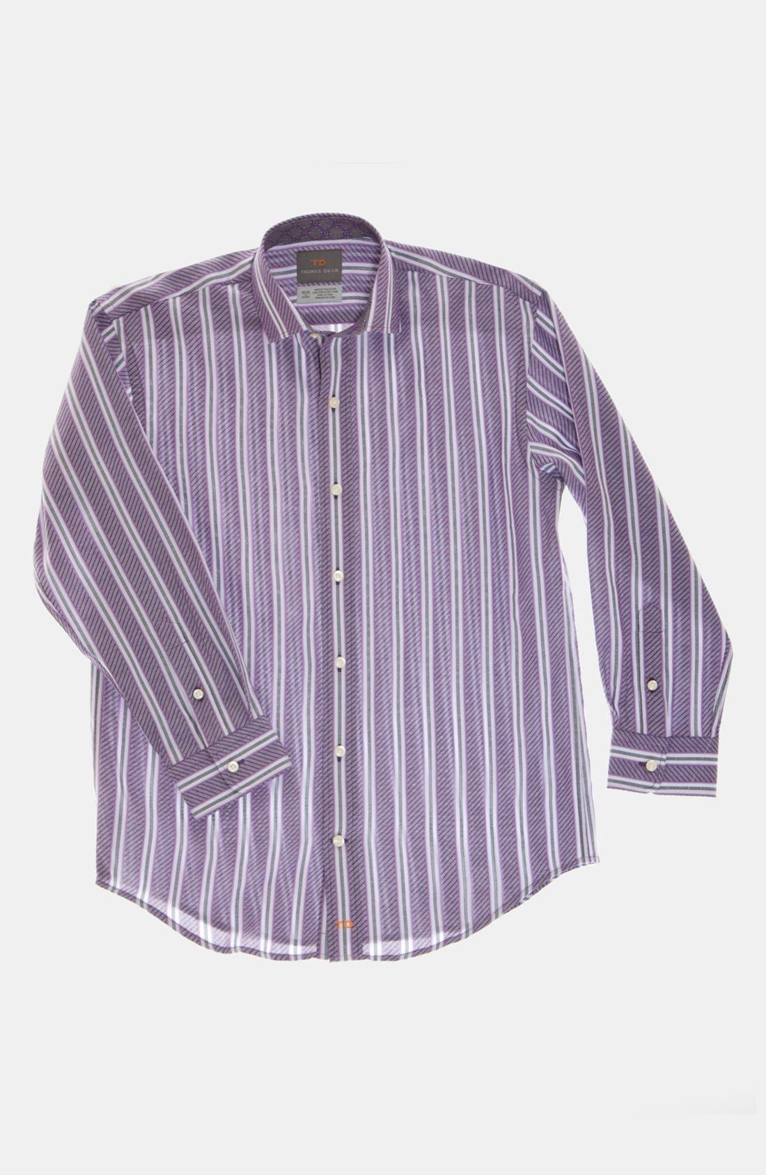 Main Image - Thomas Dean Stripe Dress Shirt (Big Boys)