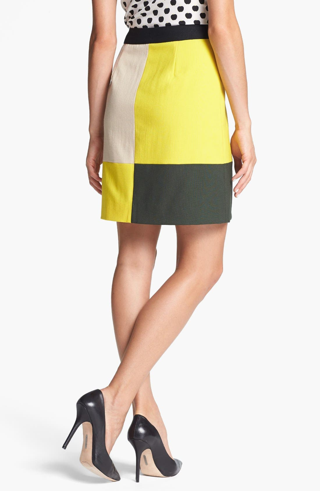 Alternate Image 2  - kate spade new york 'cissy' colorblock stretch wool skirt