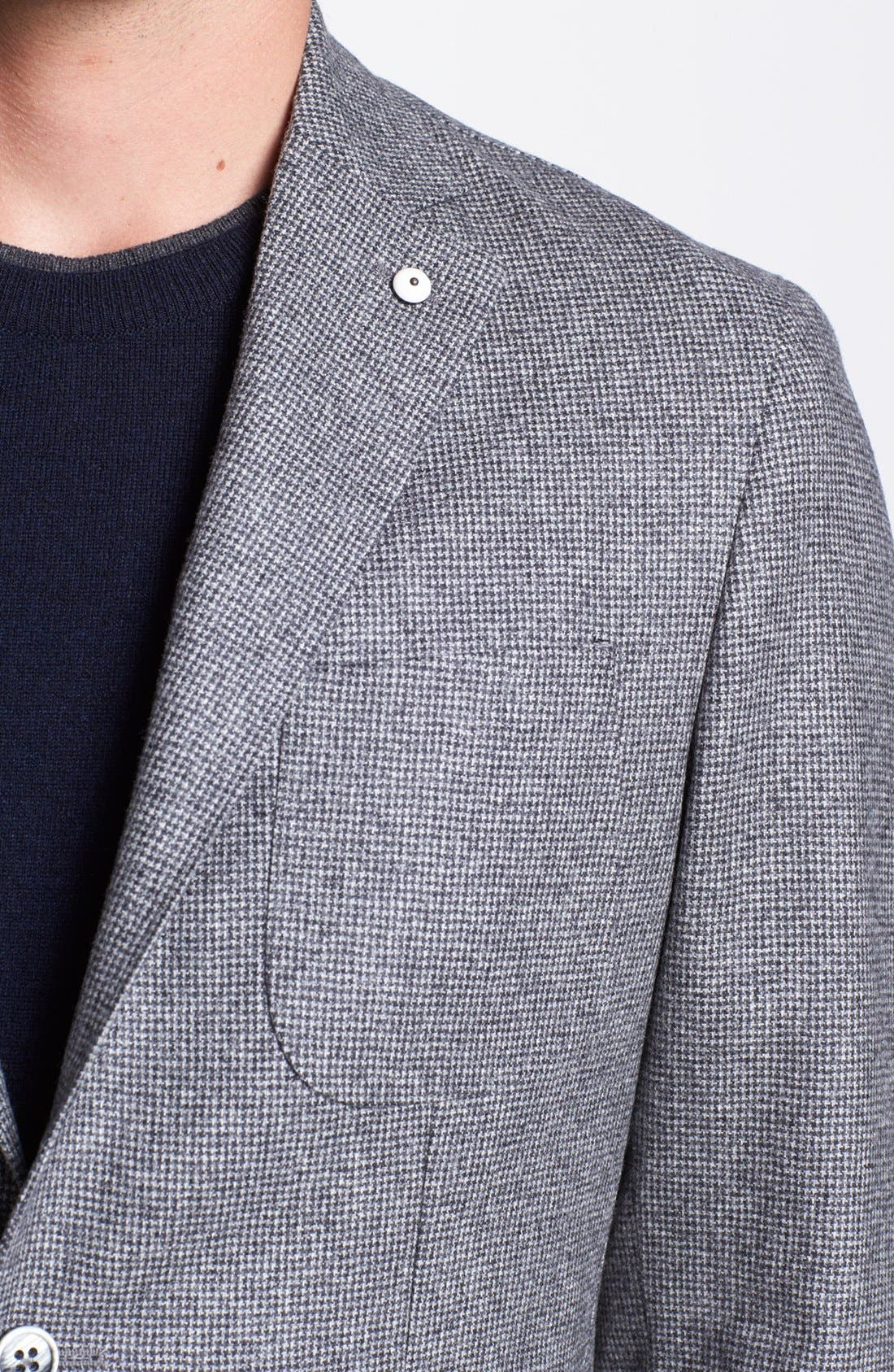 Alternate Image 2  - Lubian Houndstooth Flannel Wool Sportcoat