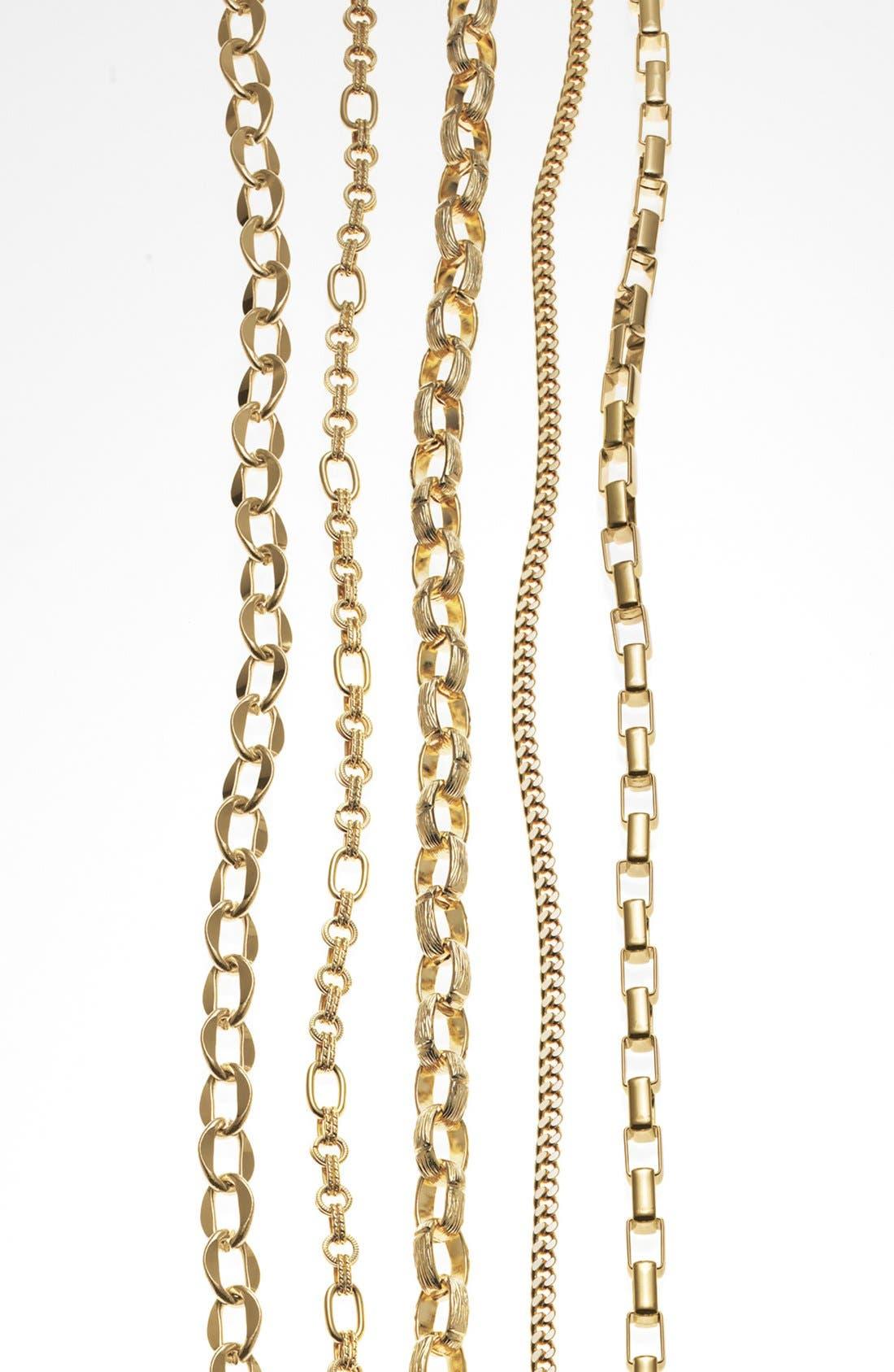 Alternate Image 4  - Nordstrom Long Textured Link Necklace