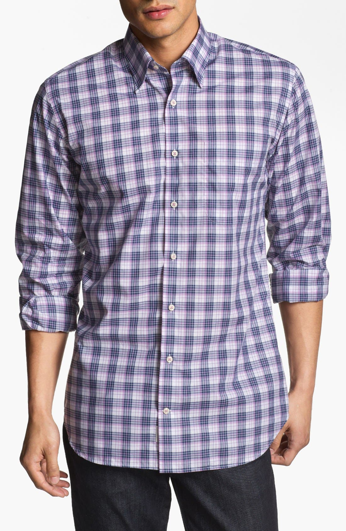 Alternate Image 1 Selected - Peter Millar 'Portofino' Regular Fit Sport Shirt (Tall)