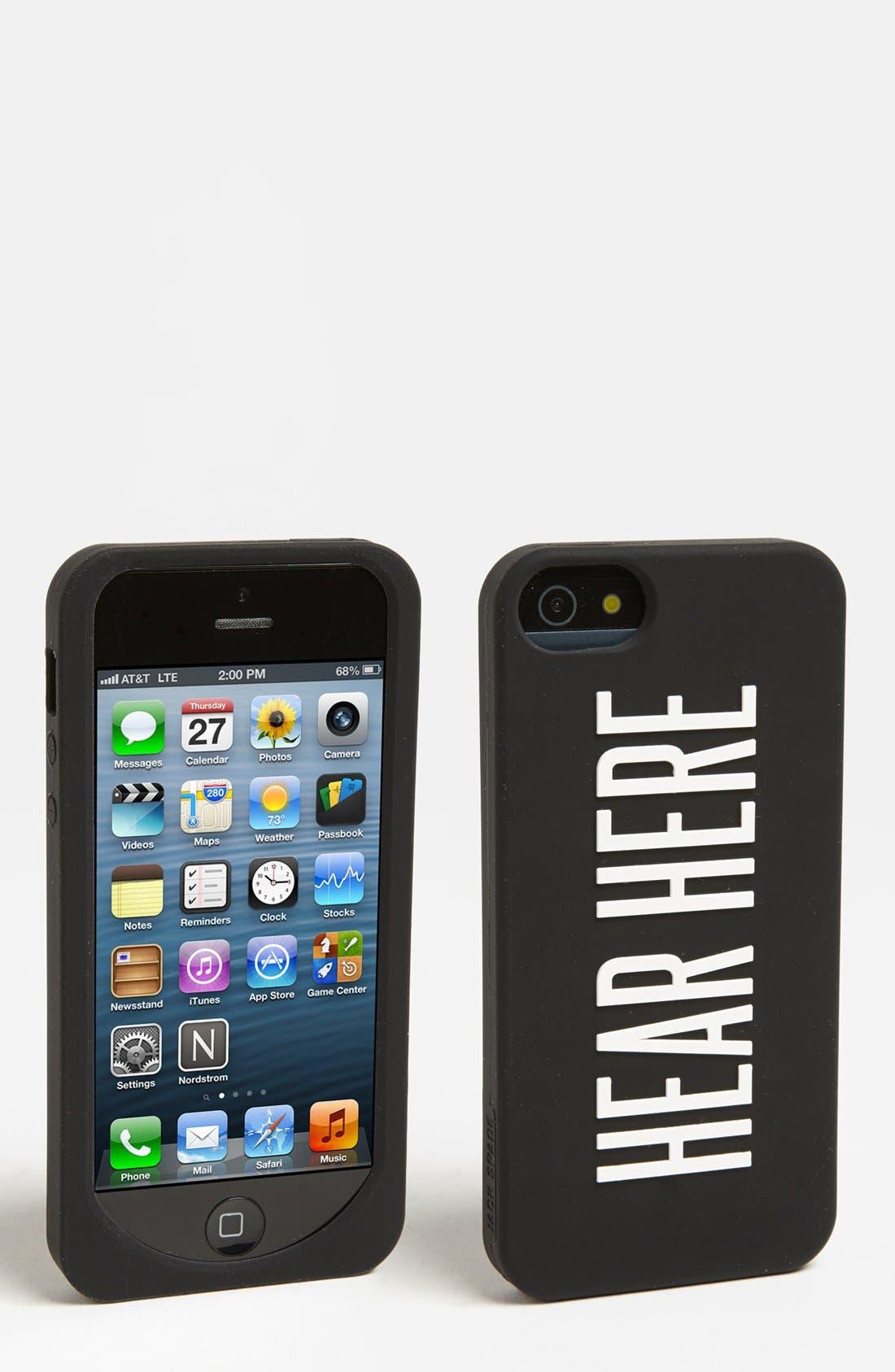 Alternate Image 1 Selected - Jack Spade 'Hear Here' iPhone 5 Case
