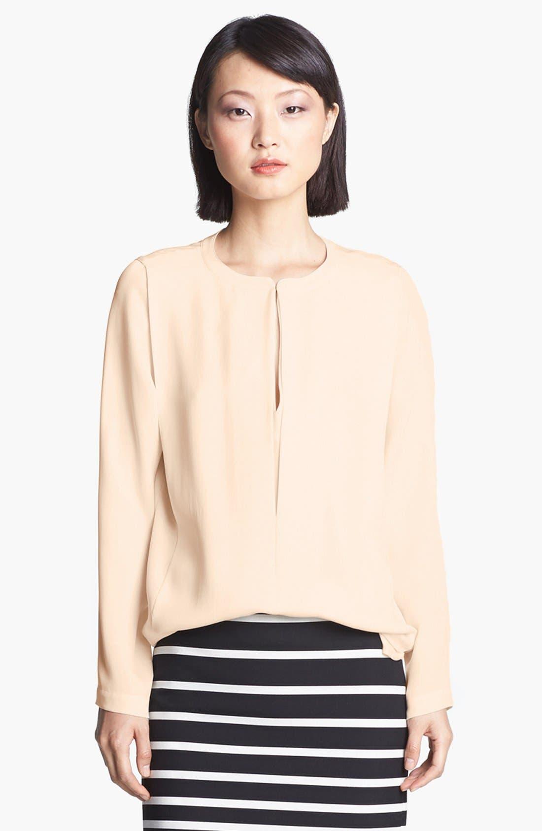 Main Image - Halston Heritage Slit Front Silk Tunic