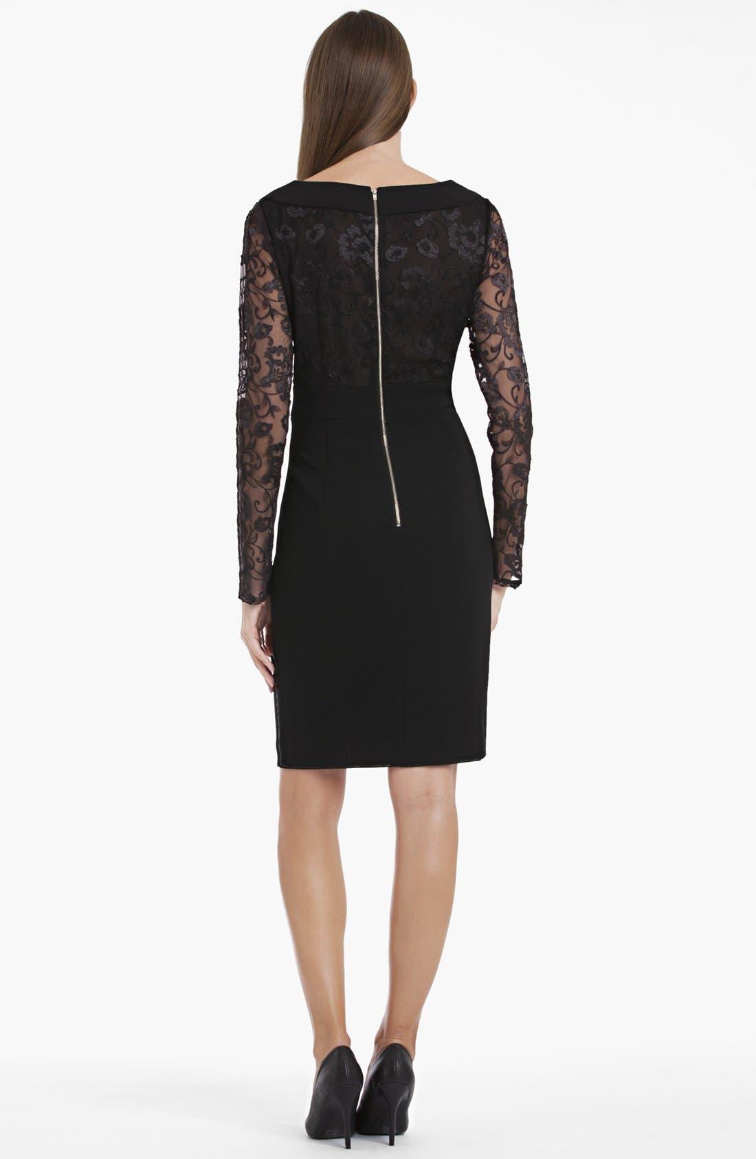 Alternate Image 2  - JS Collections Lace Detail Sheath Dress
