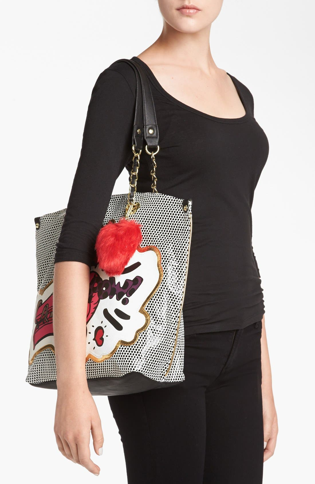 Alternate Image 4  - Betsey Johnson 'Super Betsey' Tote