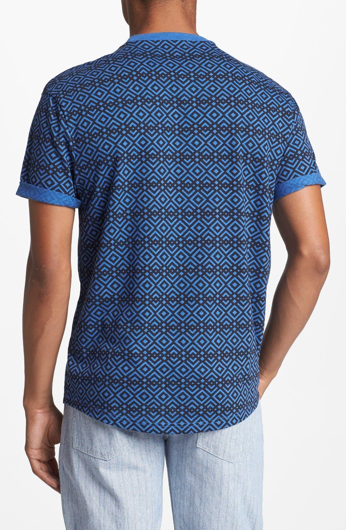 Alternate Image 2  - Topman Crisscross Print T-Shirt