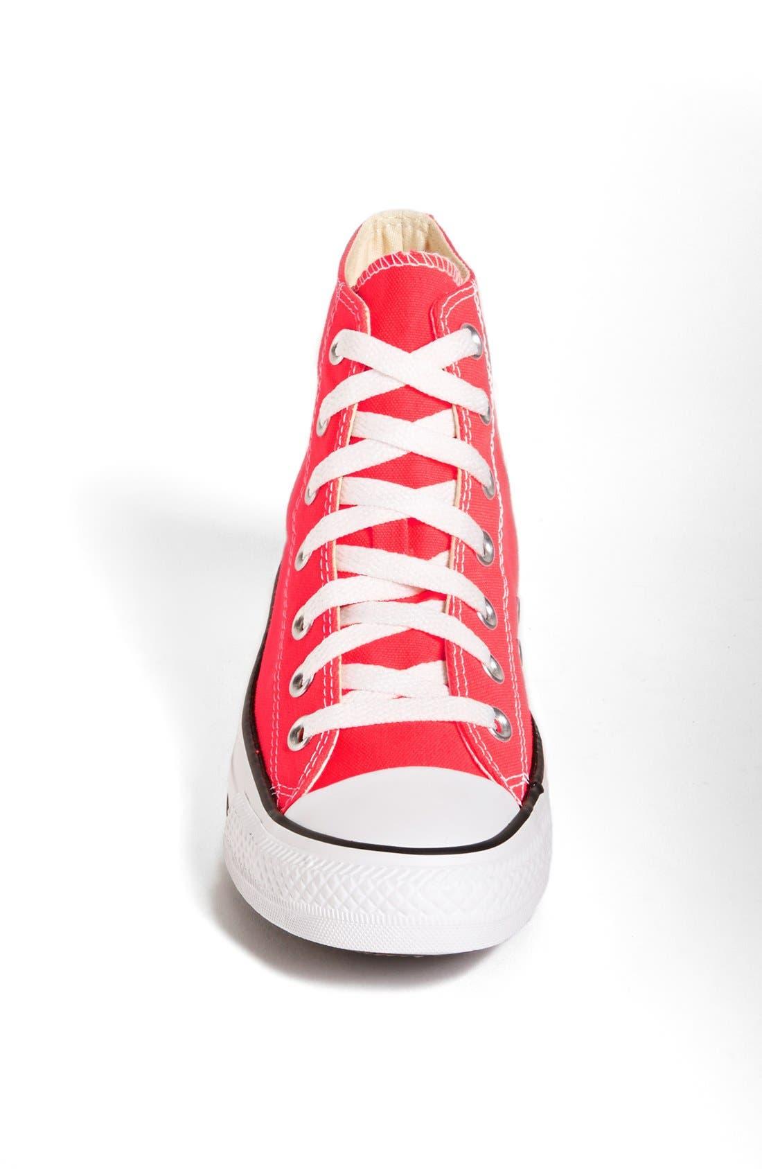 Alternate Image 3  - Converse Chuck Taylor® All Star® 'Fiery Coral' High Top Sneaker (Women)