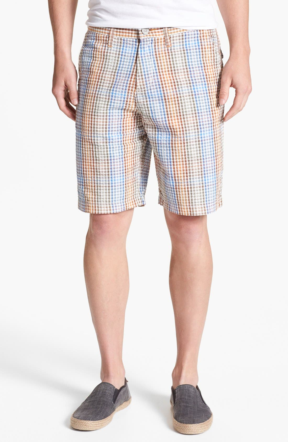 Alternate Image 1 Selected - Tommy Bahama Denim 'Reef Ridge' Seersucker Shorts