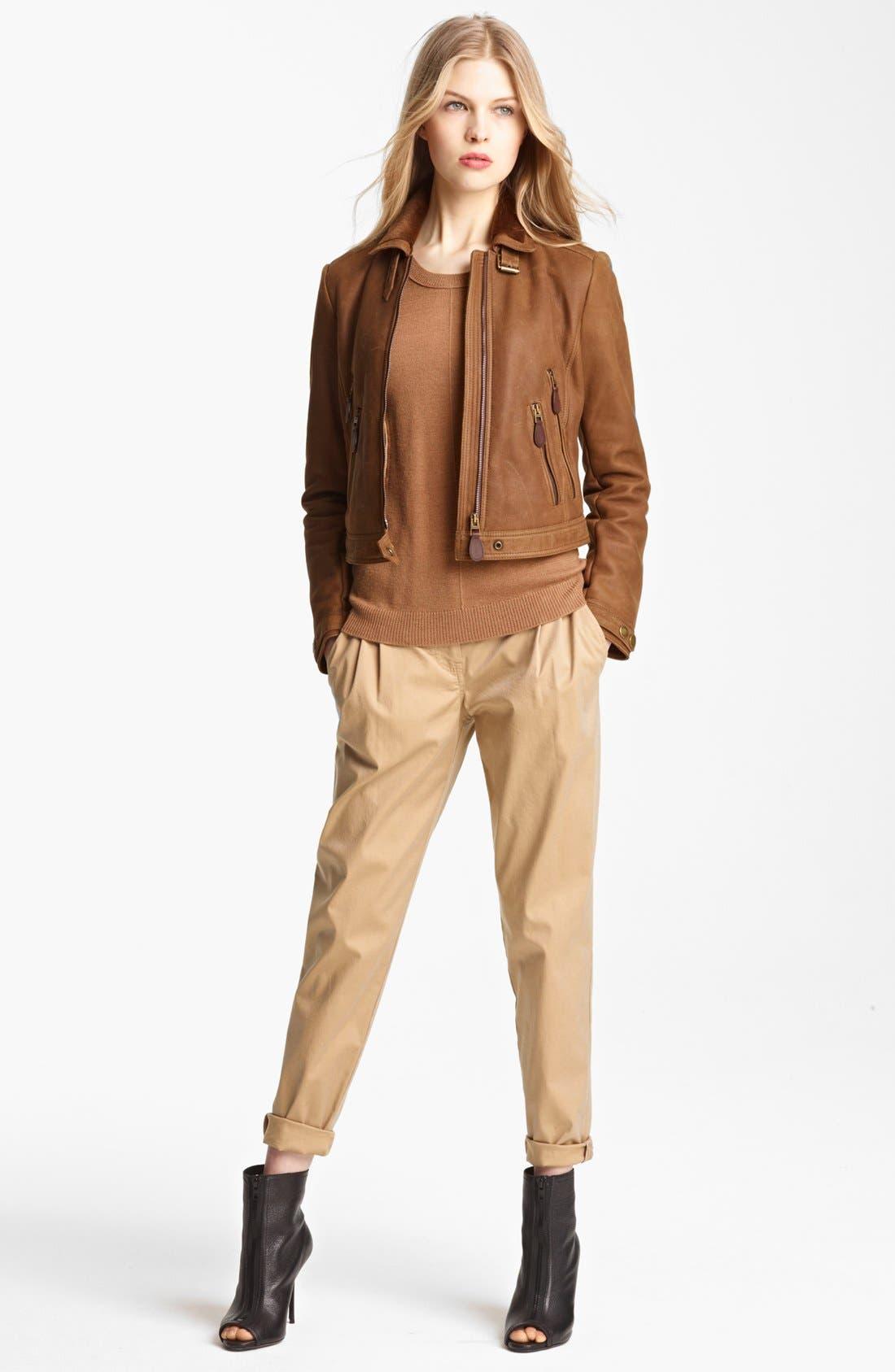 Alternate Image 3  - Burberry Brit 'Roebuck' Genuine Shearling Jacket
