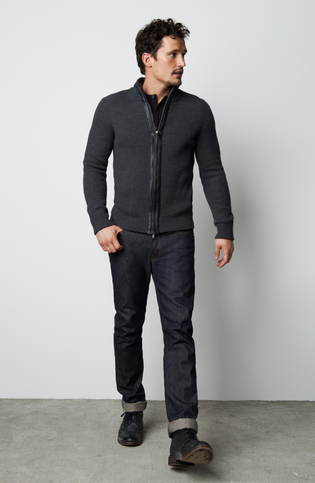 Alternate Image 5  - Vince Five-Pocket Selvedge Denim Jeans