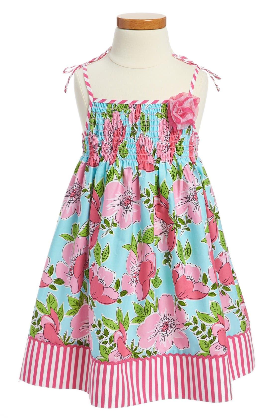 Main Image - Marmelatta Floral Dress (Toddler Girls)