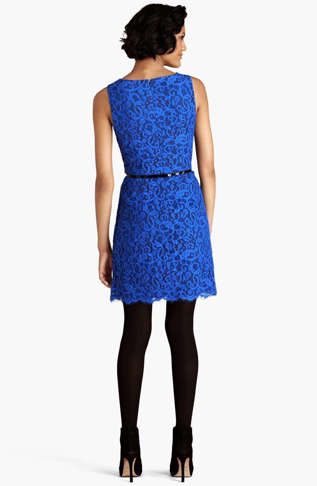 Alternate Image 2  - Donna Morgan Lace Sheath Dress