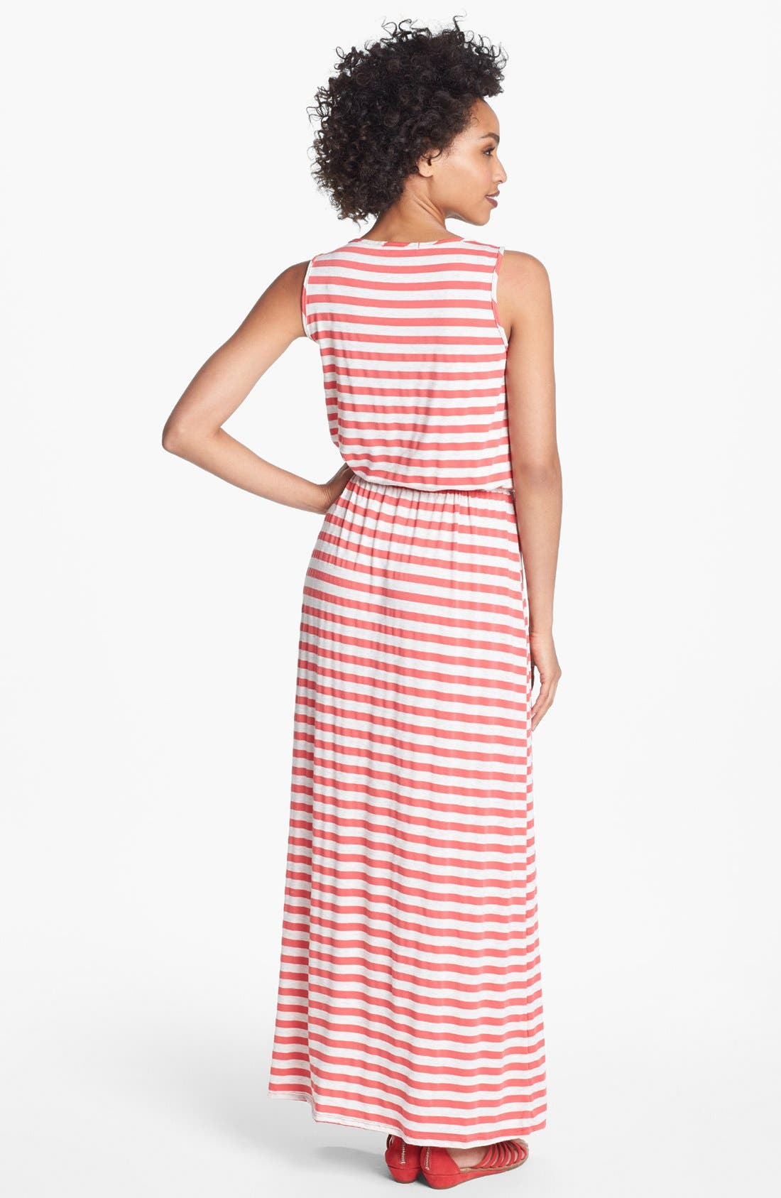 Alternate Image 2  - Olivia Moon Multi Stripe Maxi Dress (Petite)