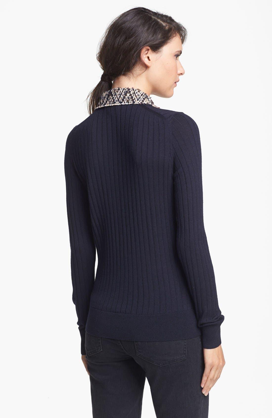 Alternate Image 2  - Tory Burch 'Zelda' Merino Wool Sweater