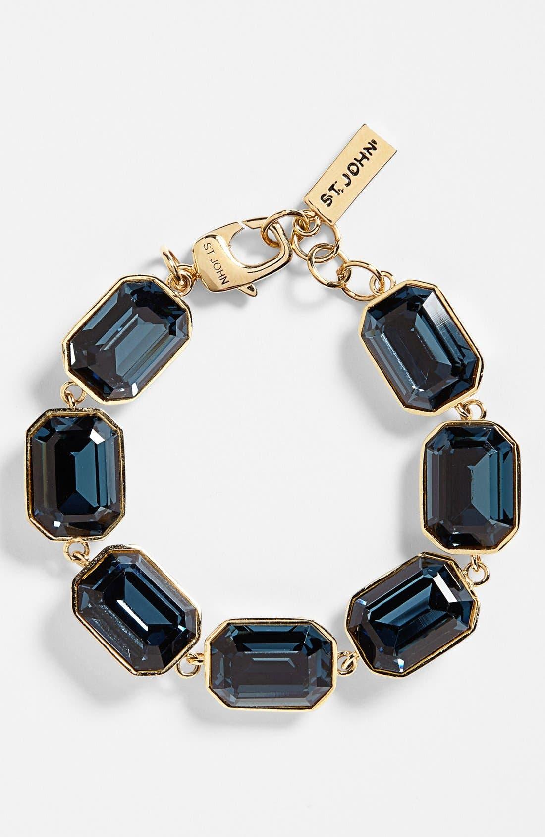 Alternate Image 1 Selected - St. John Collection Crystal Station Line Bracelet