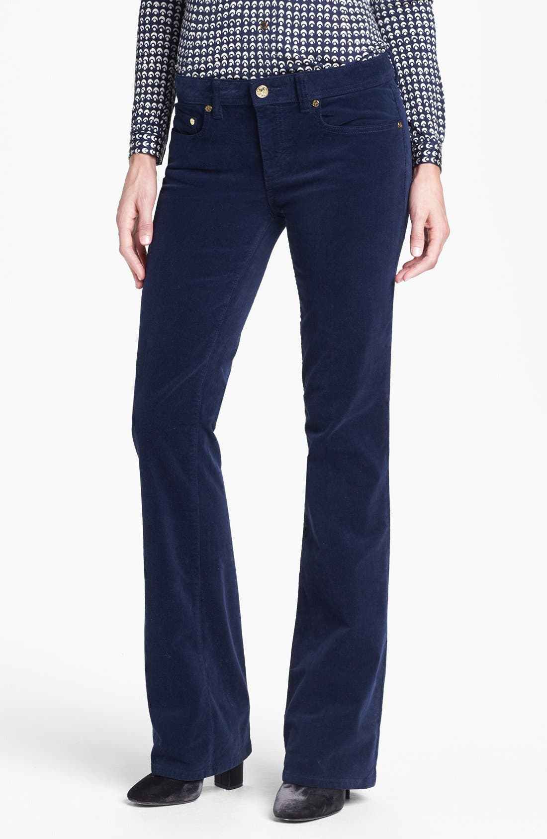 Alternate Image 1  - Tory Burch 'Classic Tory' Corduroy Pants