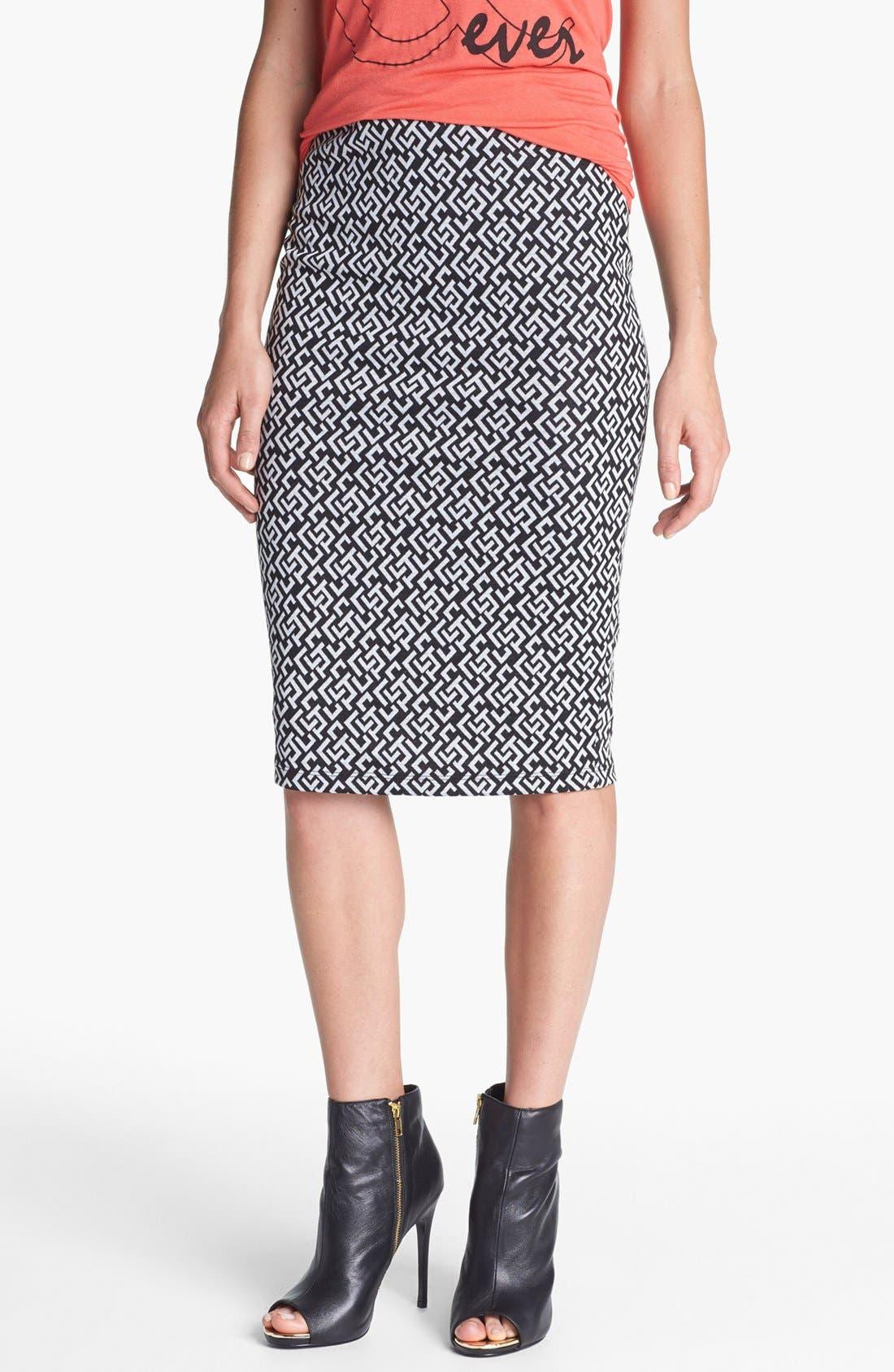 Main Image - Bobeau Jacquard Knit Midi Skirt