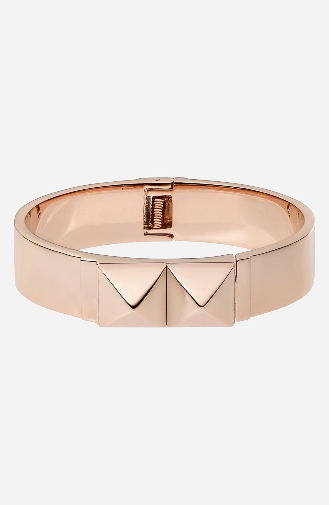 Alternate Image 1 Selected - Michael Kors Pyramid Stud Hinged Bangle