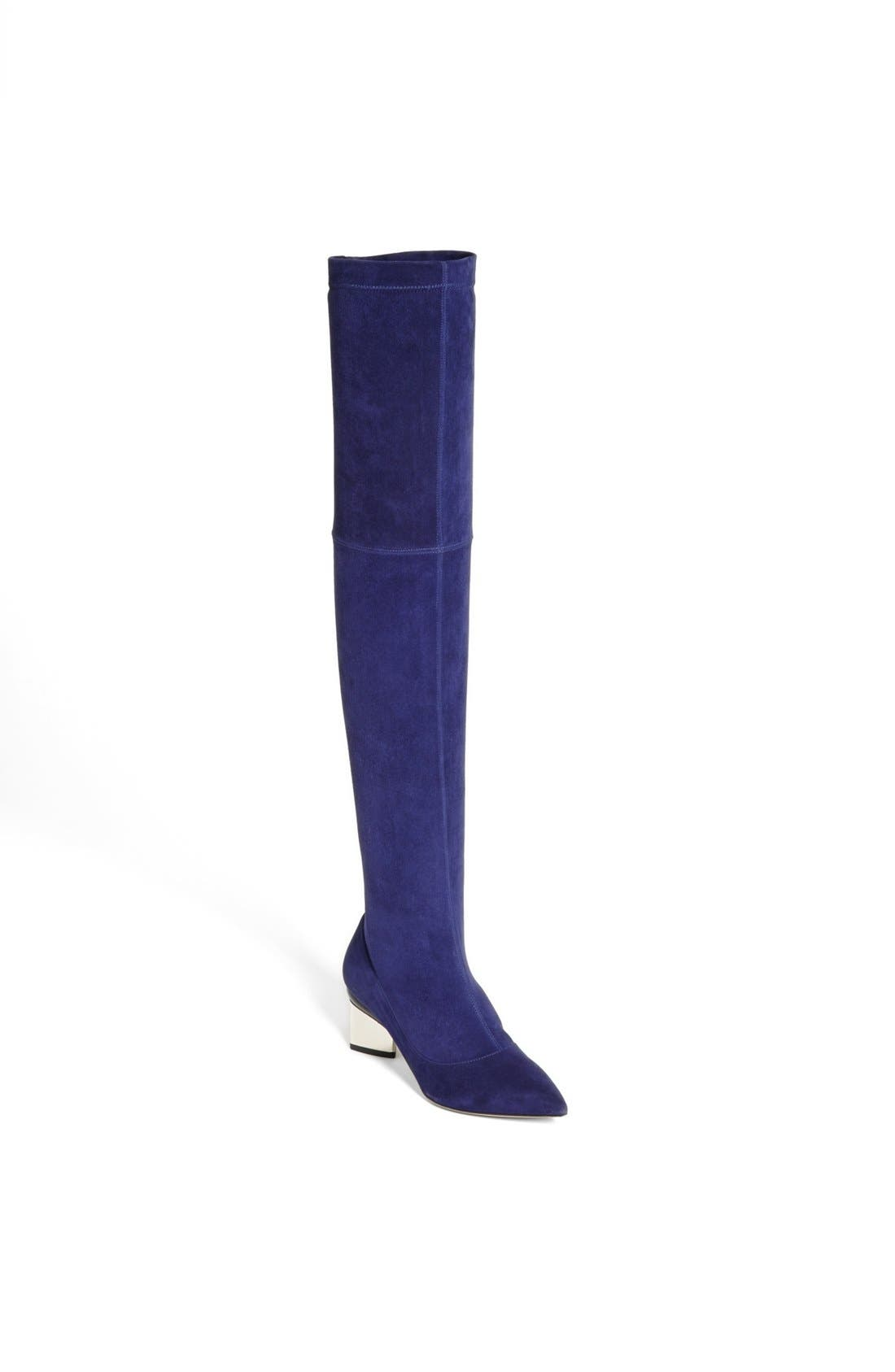 Main Image - Nicholas Kirkwood Suede Over the Knee Boot