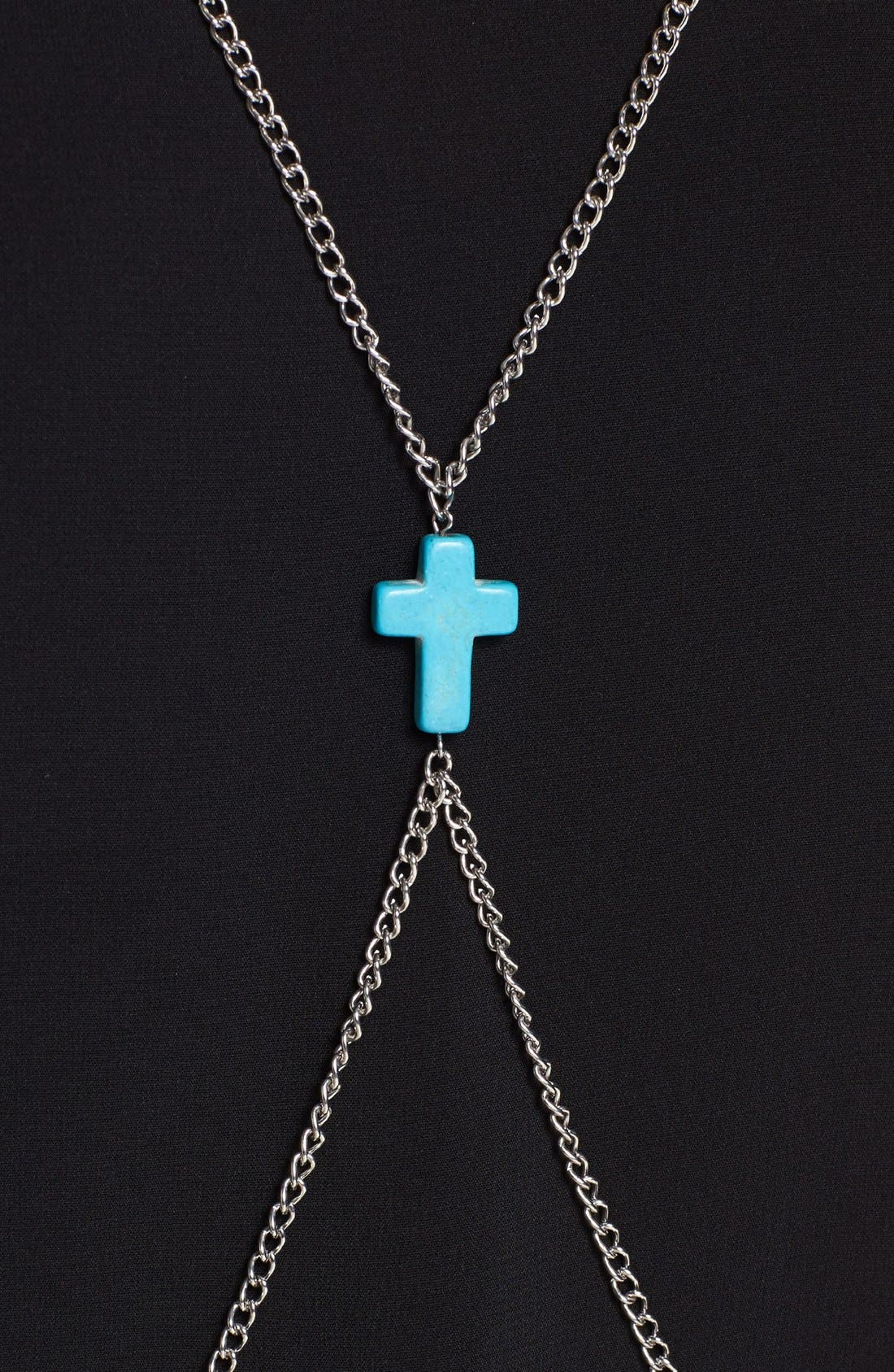 Alternate Image 2  - Orion 'Cross' Body Chain Necklace