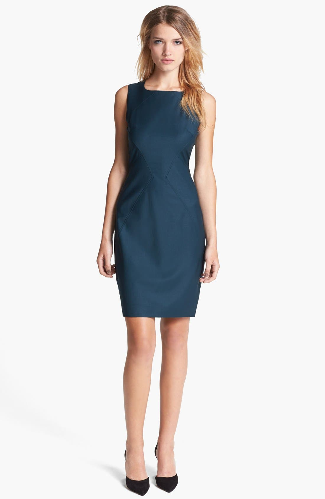 Main Image - Ted Baker London 'Shiny Lavanta' Sheath Dress