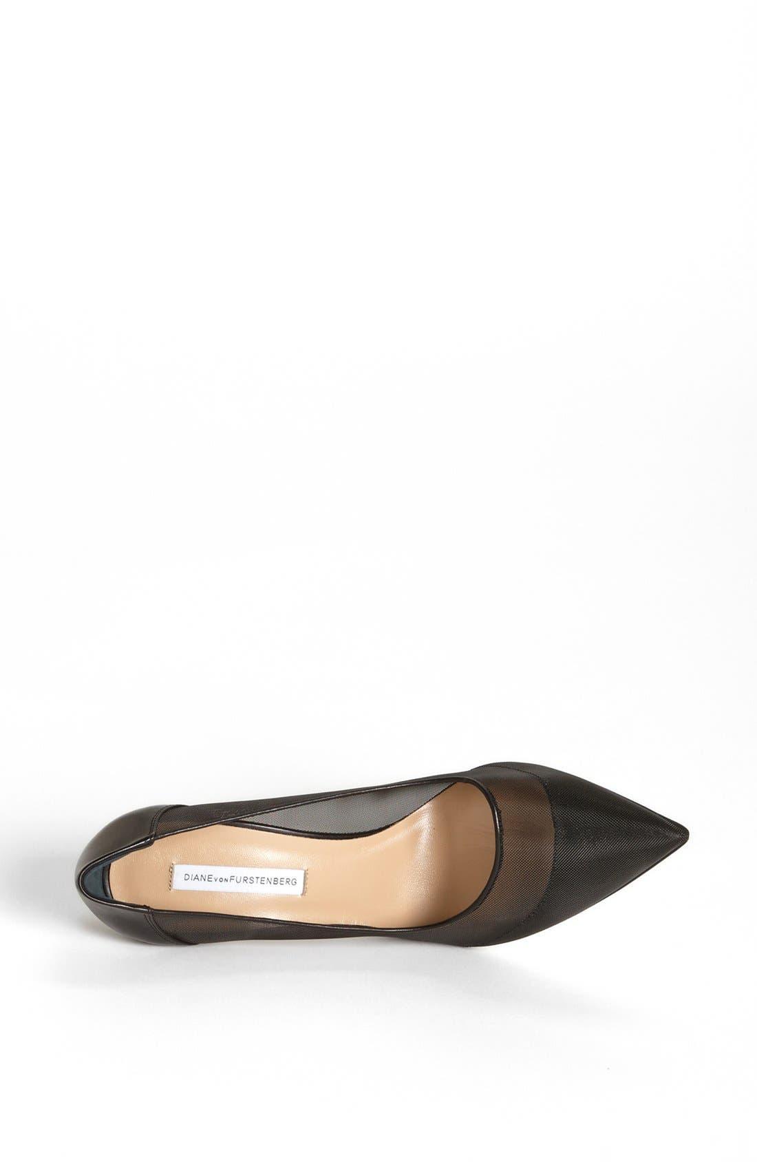 Alternate Image 3  - Diane von Furstenberg 'Bianca' Mesh & Leather Pump