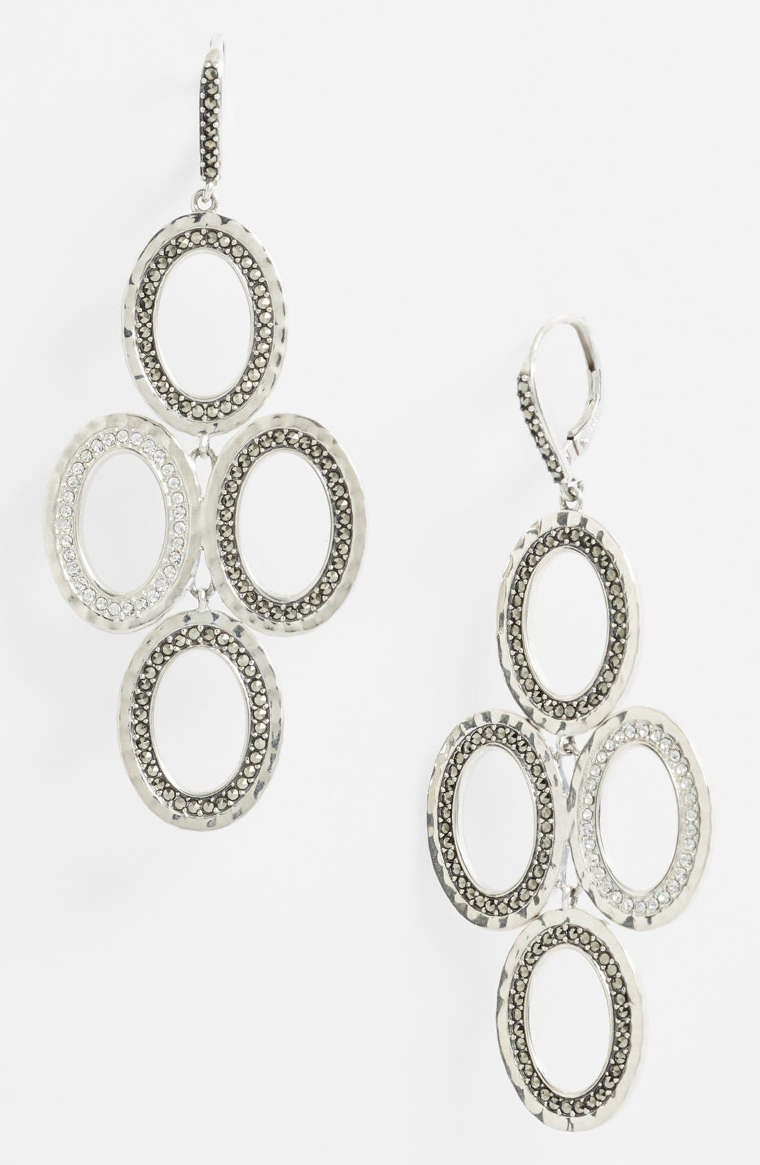 Alternate Image 1 Selected - Judith Jack 'Halo' Oval Chandelier Earrings