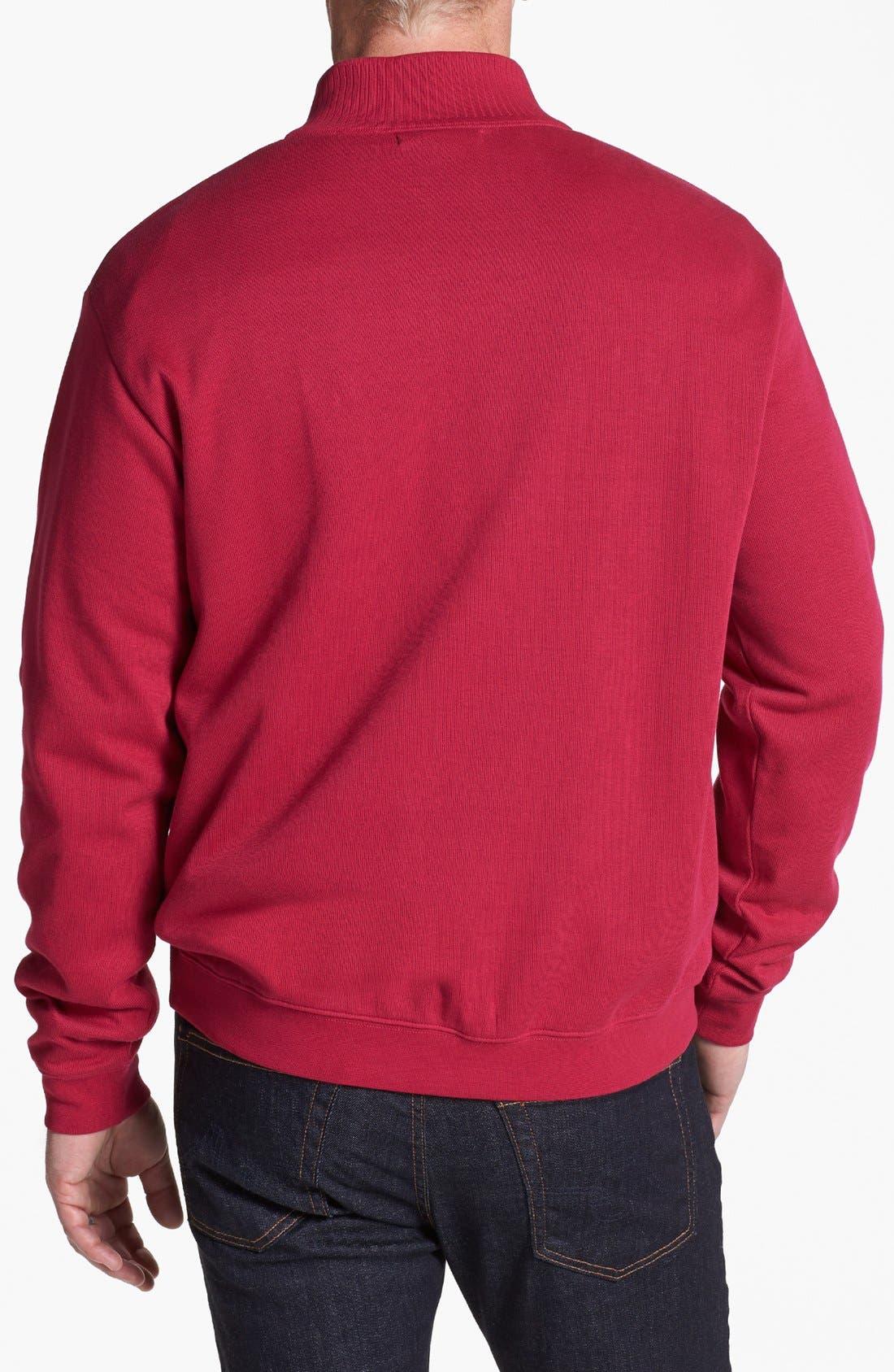 Alternate Image 2  - Cutter & Buck 'Flatback' Pullover Sweatshirt (Big & Tall)